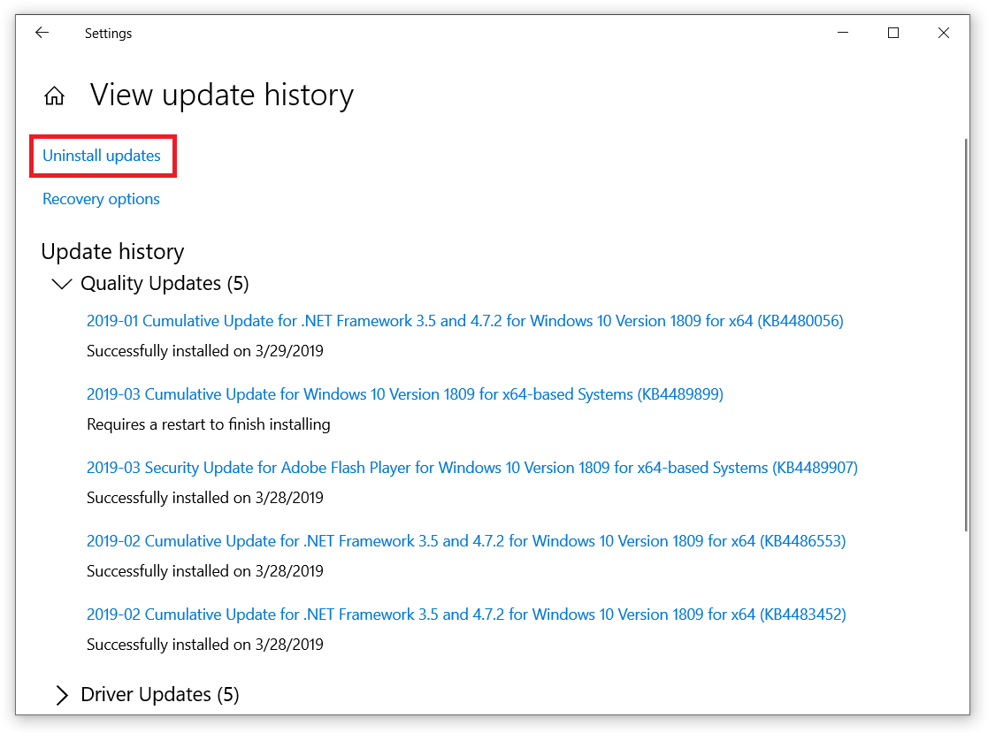 How to Delete Windows 10 Update