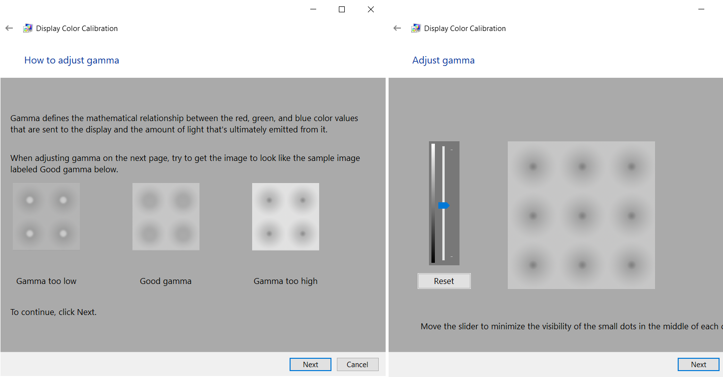color calibration windows 10