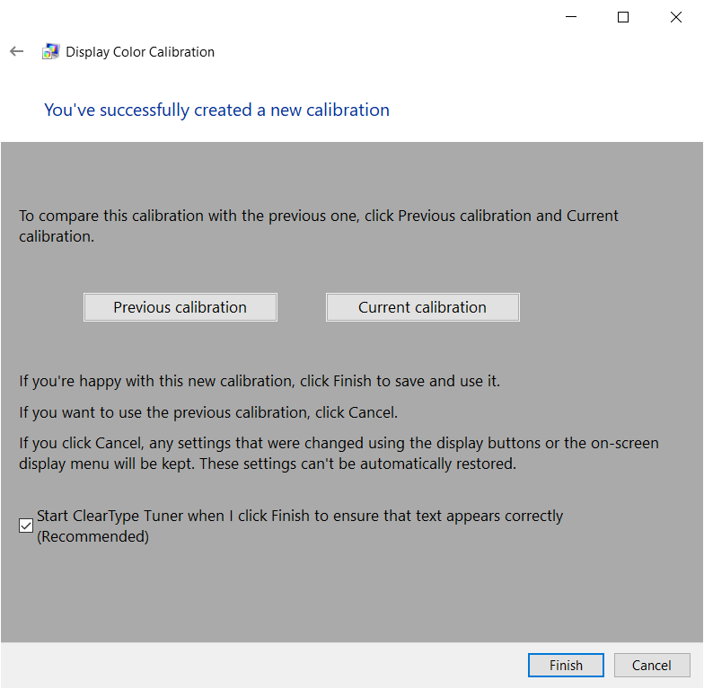 windows 10 calibrate display