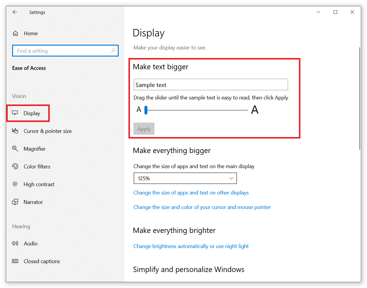 How to Change Font Size in Windows 10?