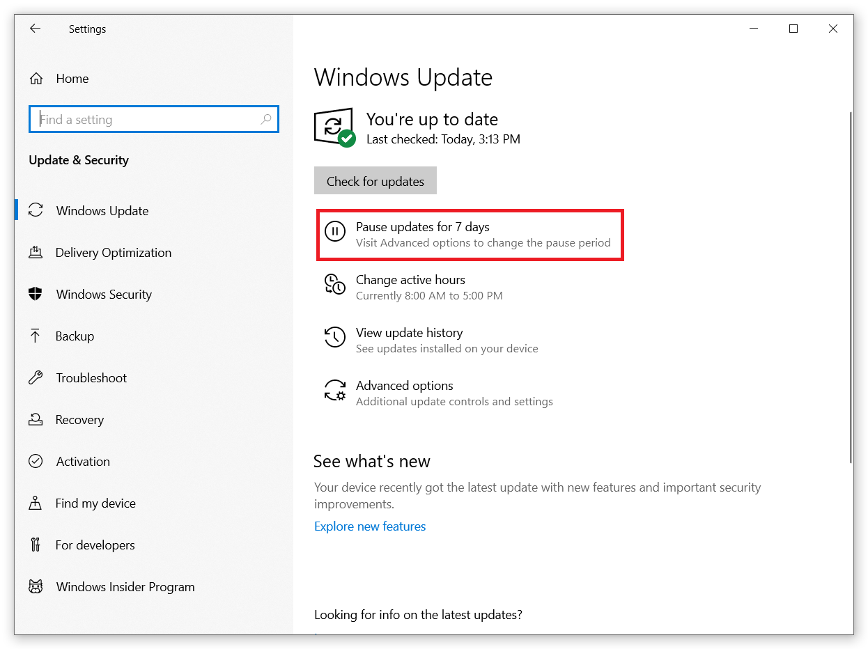 disable windows 10 update