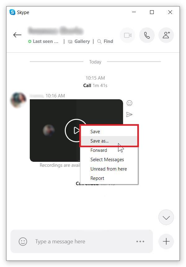 record skype video calls