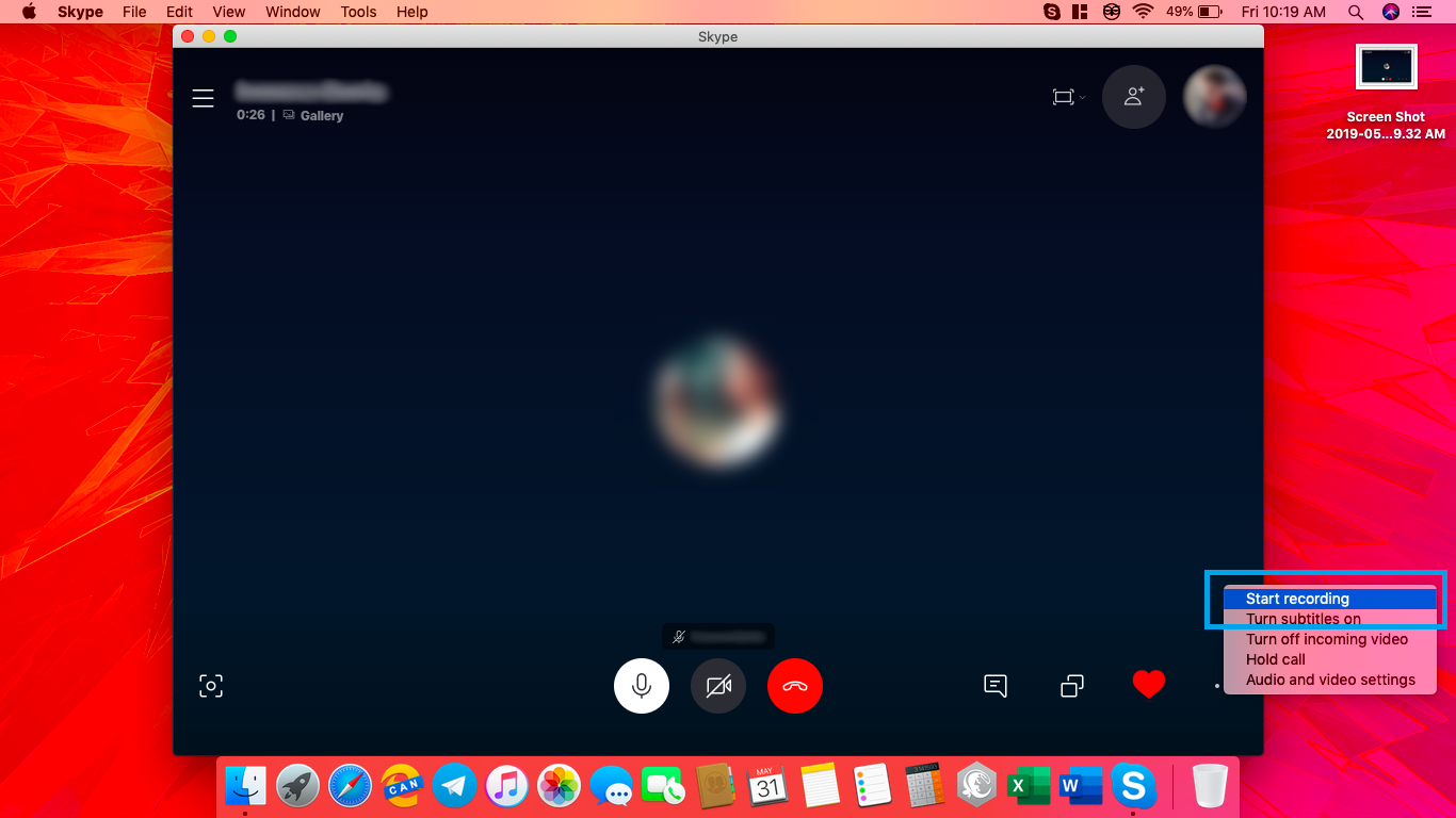 can you record a skype video call