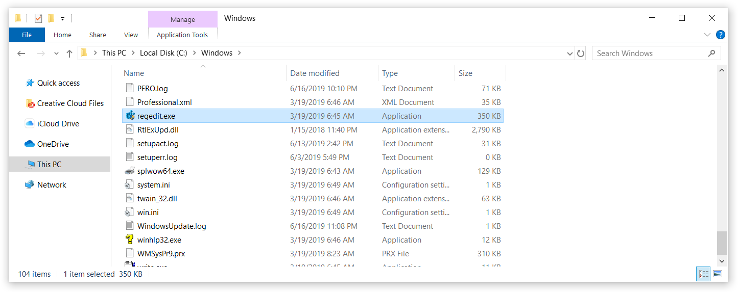 How to Access Registry Editor Windows 10