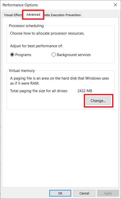page file windows 10