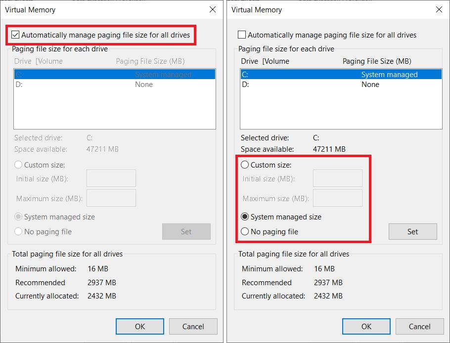 windows page file