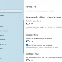 Disable Sticky Keys in Windows 10
