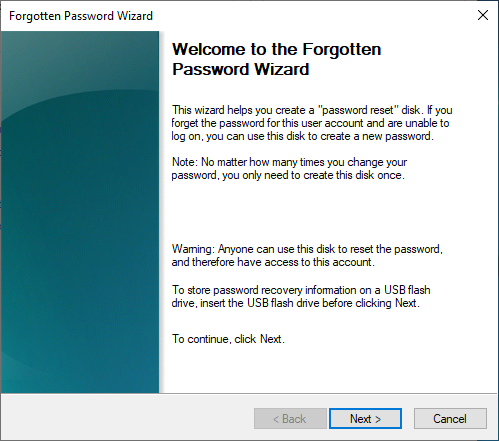 what is a password reset disk