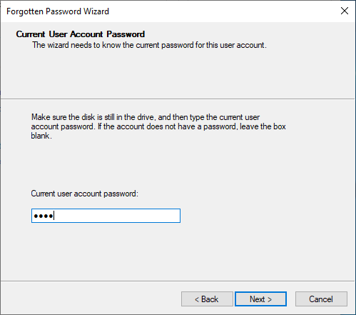 how to make a password reset disk