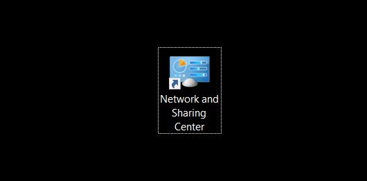 Open Network and Sharing Center in Windows