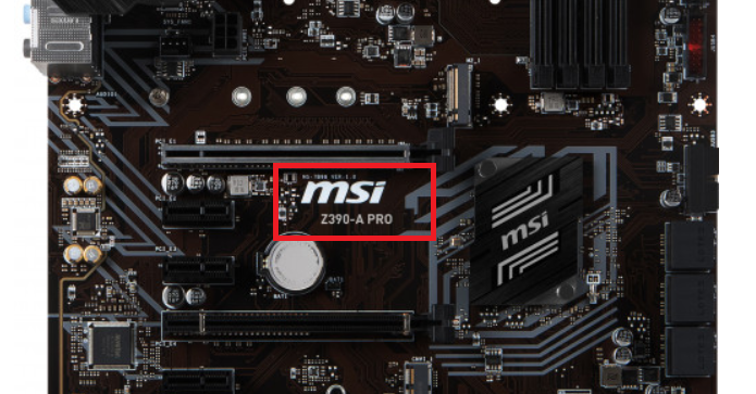 how to check what motherboard i have