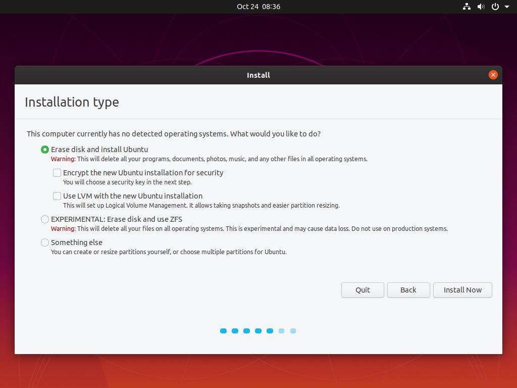 install ubuntu via usb