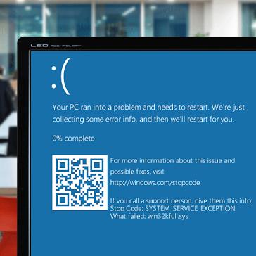 SYSTEM SERVICE EXCEPTION Windows 10 Error