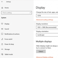 change screen resolution in Windows 10