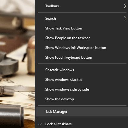 taskbar not hiding in Windows 10