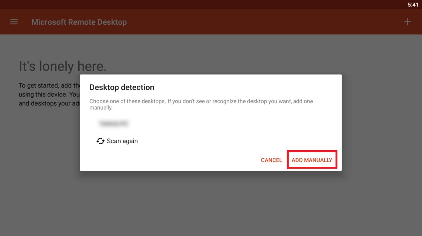remote desktop connection android