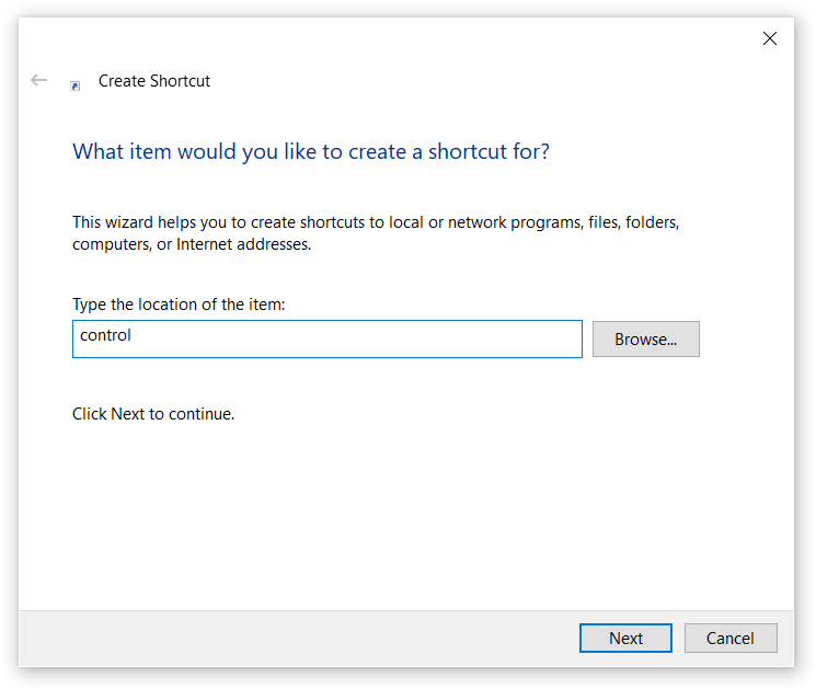where to find control panel in windows 10