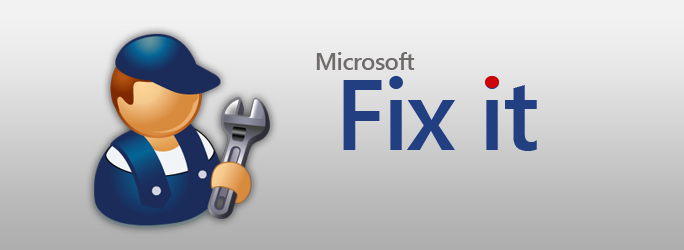 Fix Windows Problems using Fix it