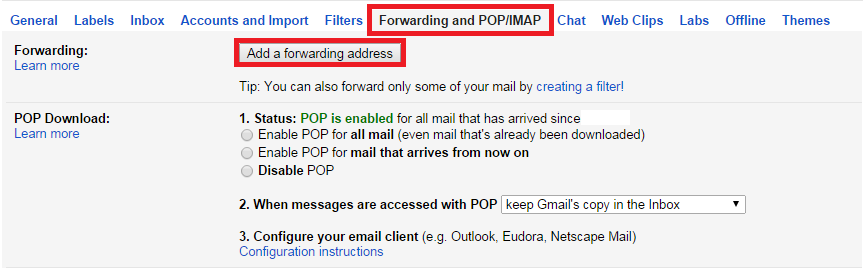 how to redirect gmail to another email account