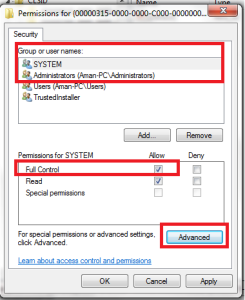 Windows Error 1406