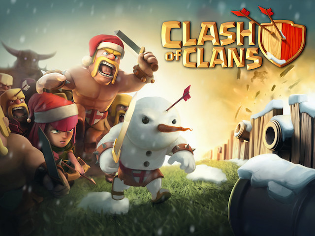 clash of clans stuck on black screen a