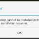 Application Cannot be Installed In The Default Location