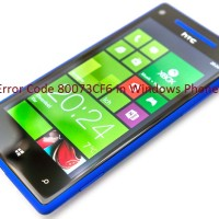 Error Code 80073CF6 in Windows Phones