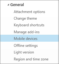 mail settings mobile devices