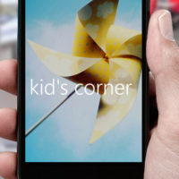 windows 10 mobile run kids corner