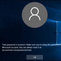 incorrect windows 10 password