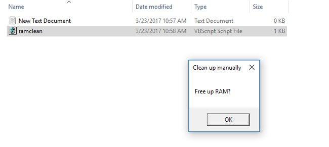 ram clean script confirm