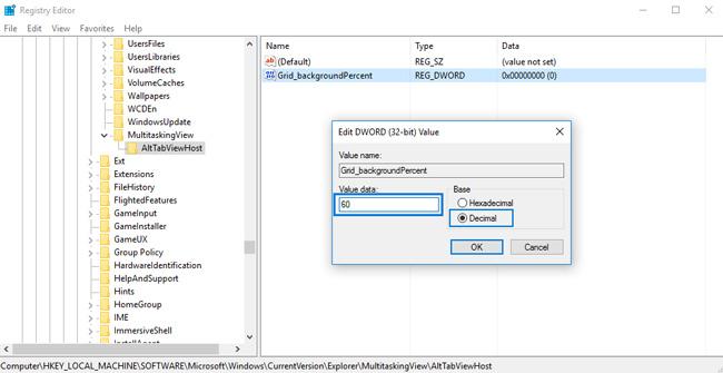 registry editor grid background