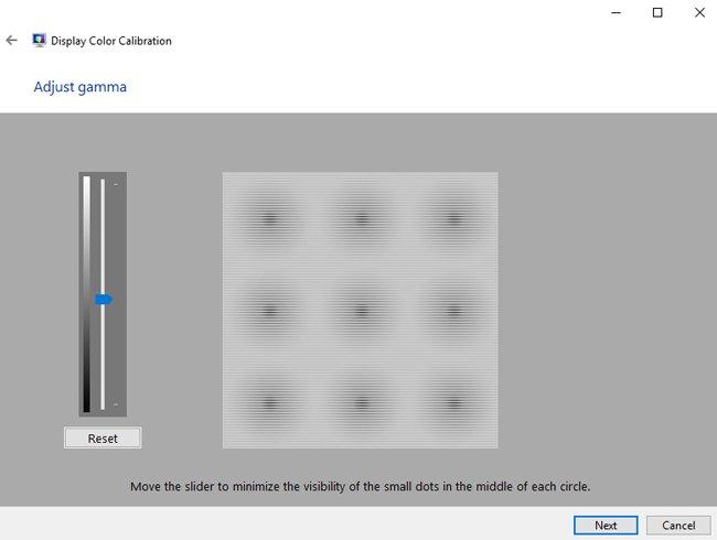 adjust gamma properties windows 10