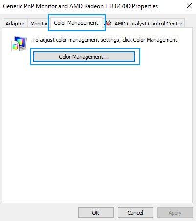 color management windows 10