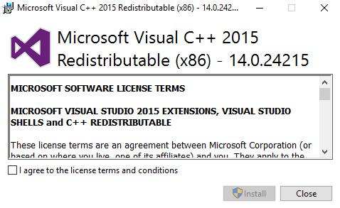 visual c++ redistributable