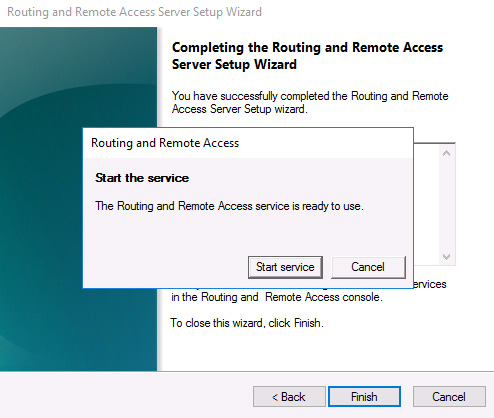 VPN RAS start service