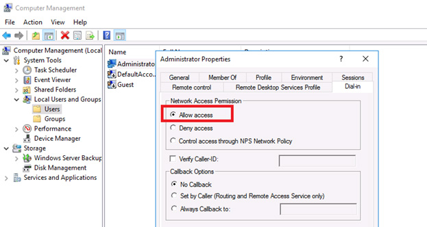 VPN allow access