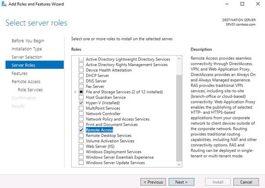 add roles server remote access