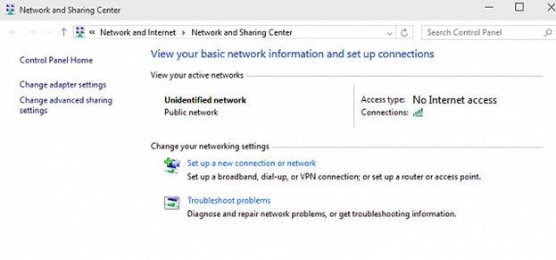 network no internet access