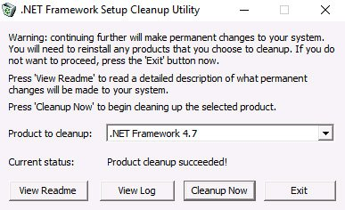 net framework error cleanup tool