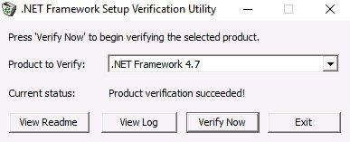 net framework initialization error verification